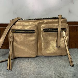 Juicy Couture Crossbody Bag Metallic Rose Gold